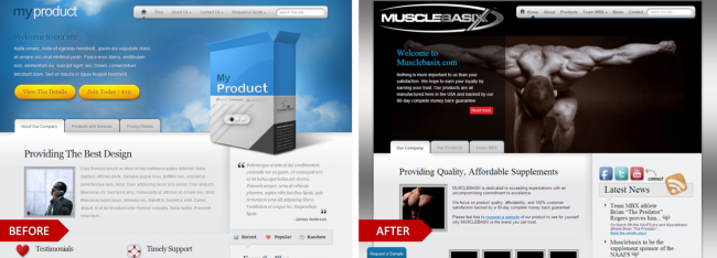 My Product by Elegant Themes, modified for the website, Musclebasix