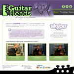 GuitarHeads HOME page with custom banner and footer