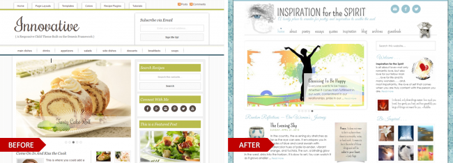 Innovative, a Genesis theme, modified for the website, Inspiration for the Spirit